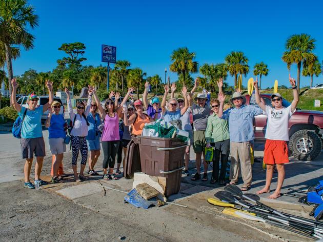 Crab Bank Kayak Tour & Beach Sweep 2016
