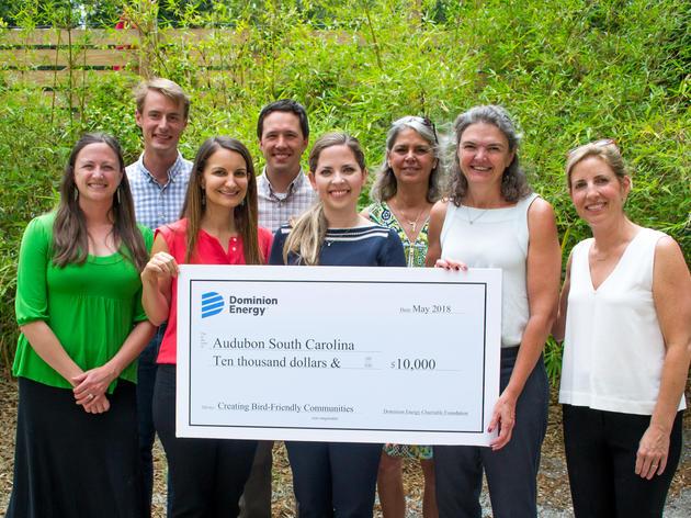 Audubon South Carolina receives grant from Dominion Energy