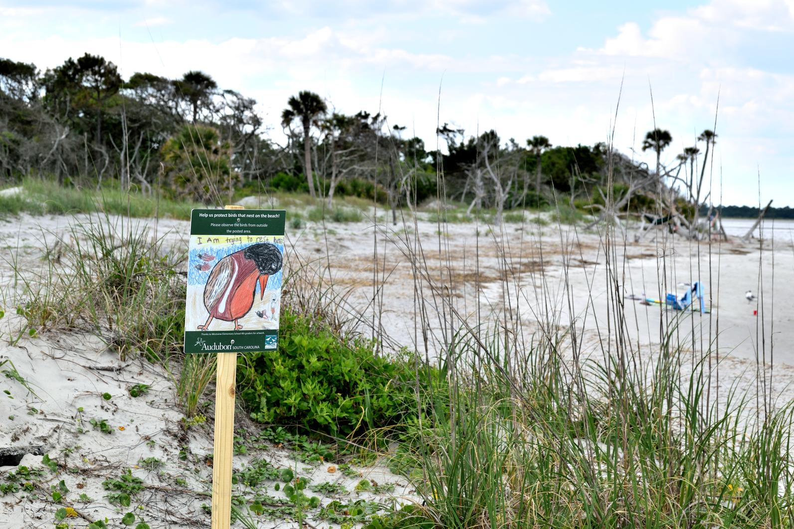 Lighthouse Inlet Heritage Preserve Sign