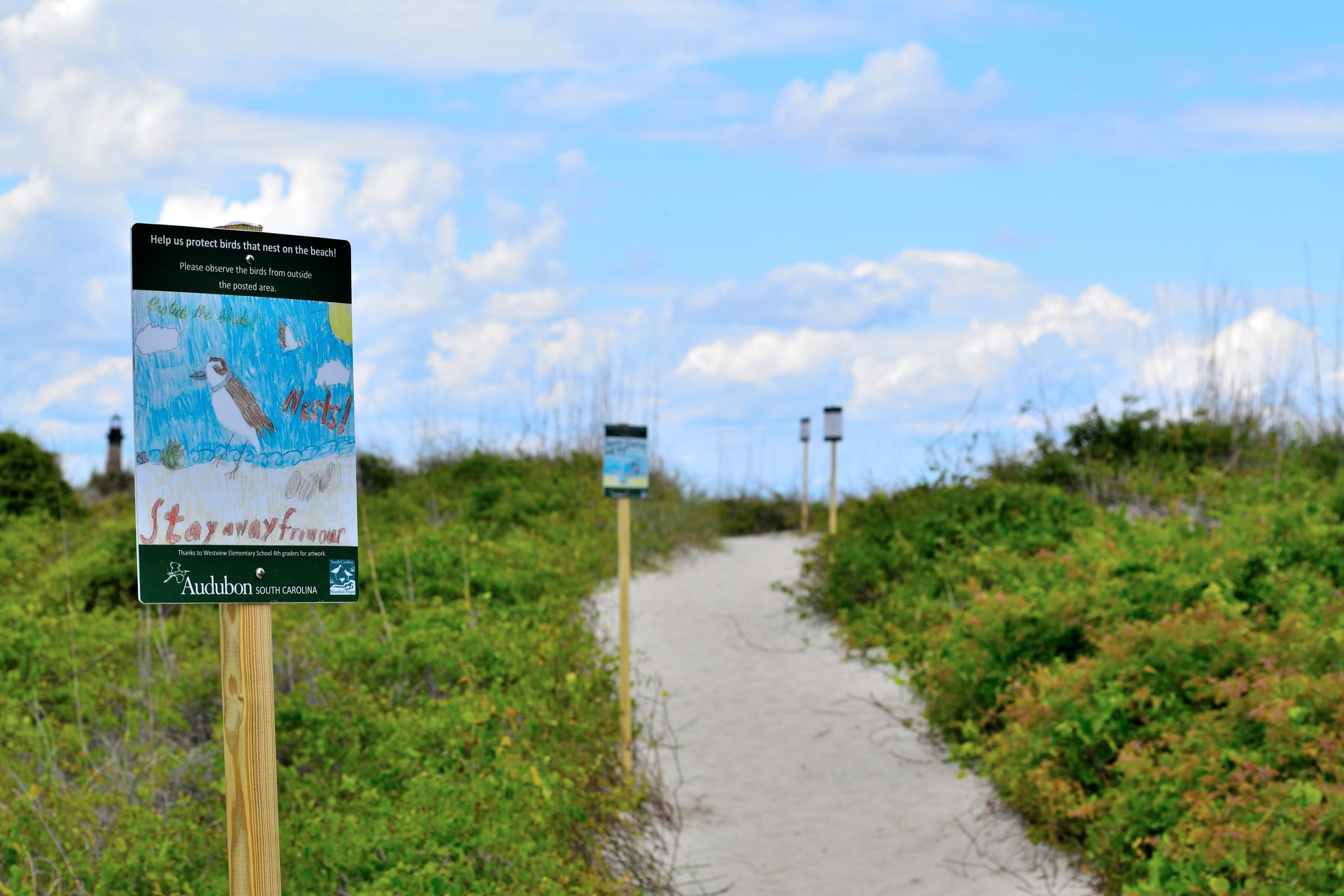 Lighthouse Inlet Heritage Preserve Signs